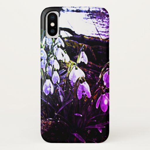 Snowdrops by River Hafren / Severn iPhone XS Case