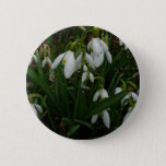 Snowdrops I (Galanthus) White Spring Flowers Button