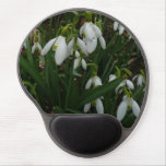 Snowdrops I (Galanthus) White Spring Flowers Gel Mouse Pad