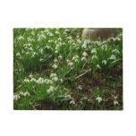 Snowdrops II (Galanthus) White Spring Flowers Doormat