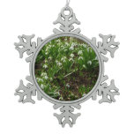 Snowdrops II (Galanthus) White Spring Flowers Snowflake Pewter Christmas Ornament