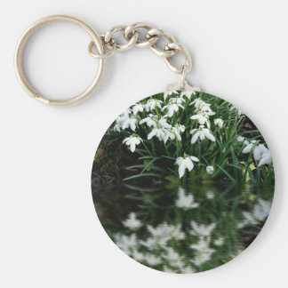 Snowdrops in reflection keychains