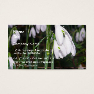 Snowdrops In The Garden Business Card
