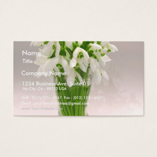 Snowdrops In The Vase Business Card
