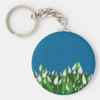 Snowdrops Key Ring Basic Round Button Keychain