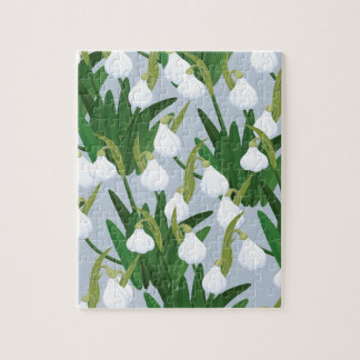 snowdrops pattern jigsaw puzzle