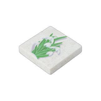 Snowdrops Stone Magnet