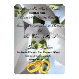 Snowdrops Wedding Card