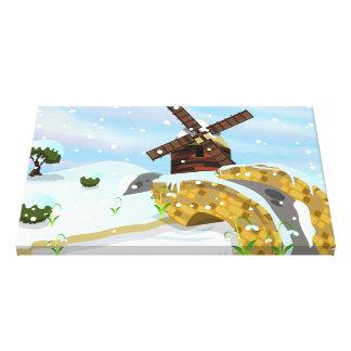 Snowdrops windmill canvas prints
