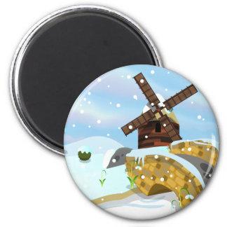 Snowdrops windmill magnet