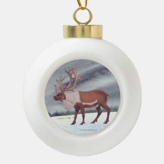 Snowdusted Caribou Ornament