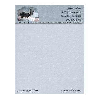 Snowdusted Deer Faux Parchment Letterhead