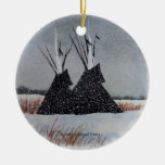 Snowdusted Tipis Christmas Ornaments