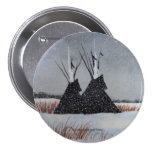 Snowdusted Tipis Pinback Buttons