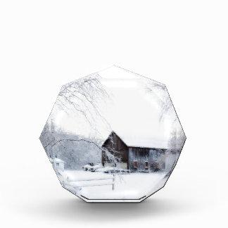 Snowed in Christmas Barn Acrylic Award