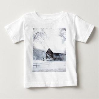 Snowed in Christmas Barn Baby T-Shirt