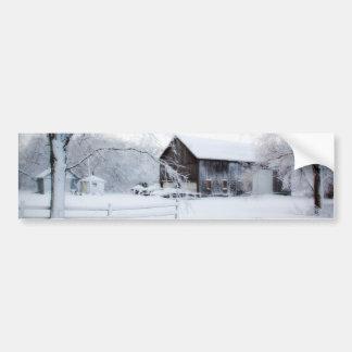Snowed in Christmas Barn Bumper Sticker