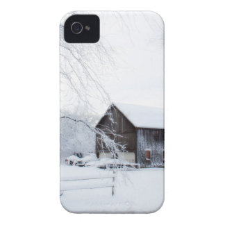 Snowed in Christmas Barn Case-Mate iPhone 4 Case