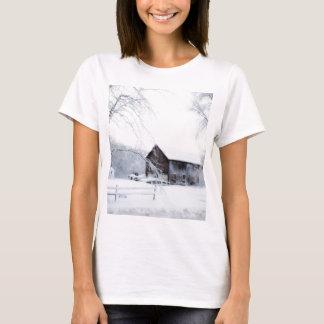 Snowed in Christmas Barn T-Shirt