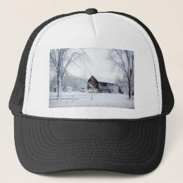 Snowed in Christmas Barn Trucker Hat