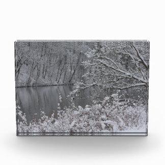 snowed river acrylic award