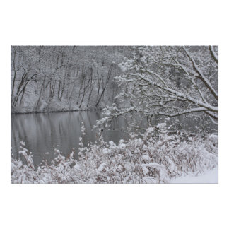 snowed river photo print