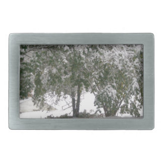 Snowfall 1 rectangular belt buckle