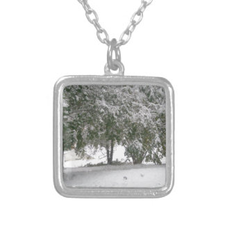 Snowfall 1 square pendant necklace
