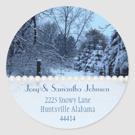 Snowfall Address Stickers