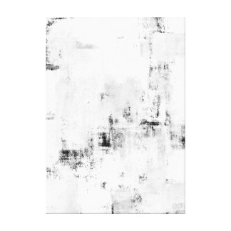 'Snowfall' Black and White Abstract Art Canvas Print