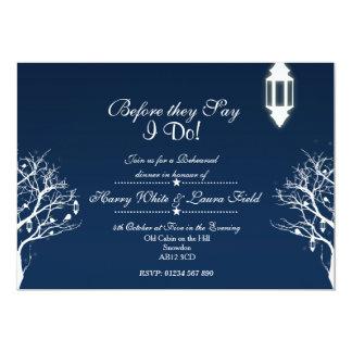 "Snowfall Dinner Rehearsal & Engagement Invite 5"" X 7"" Invitation Card"