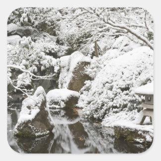 Snowfall in Portland Japanese Garden, 2 Sticker