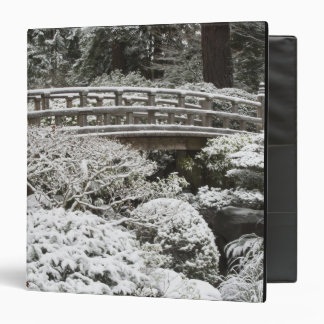 Snowfall in Portland Japanese Garden, 3 Ring Binder