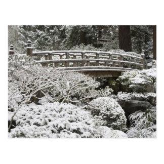 Snowfall in Portland Japanese Garden, Postcard