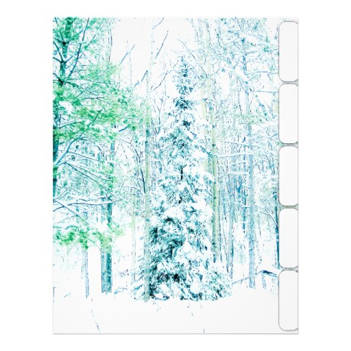"Snowfall in the Woods Binder Dividers 8.5"" X 11"" Flyer"