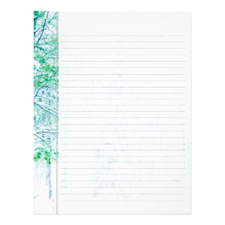 Snowfall in the Woods Lined Paper