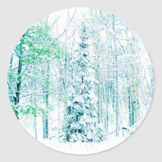 Snowfall in the Woods Sticker