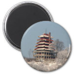 Snowfall on the Pagoda Refrigerator Magnet