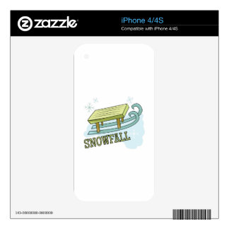 Snowfall Skin For The iPhone 4
