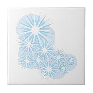 Snowfall Starburst Small Square Tile