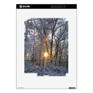 Snowfall Sunrise CricketDiane Snowy Forest Sun Skins For The iPad 2