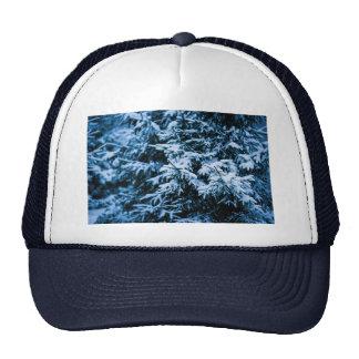 Snowfall Winter Christmas Tree Trucker Hat