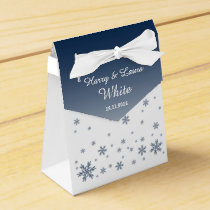 Snowfall Wintry Wedding Favour Bag Favor Box