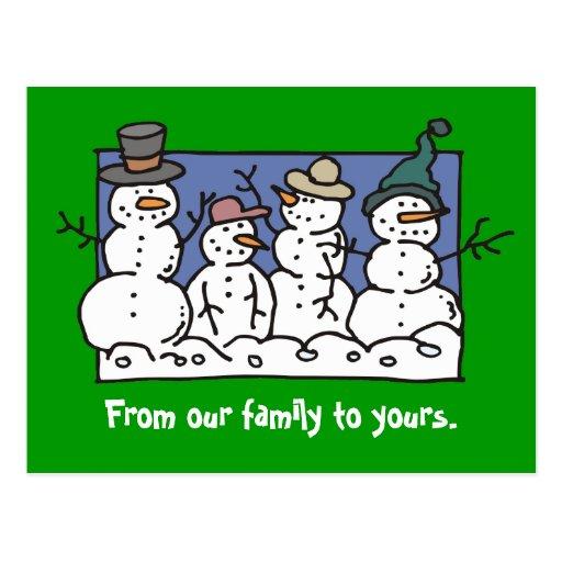 SnowFamily Postcards