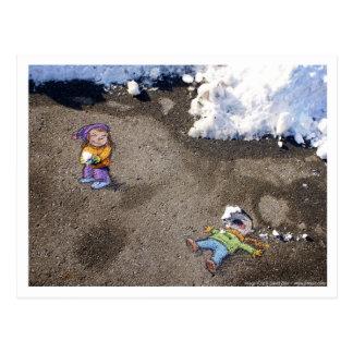 snowfight postcard