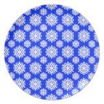 Snowflake 11 Blue Plates