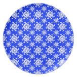 Snowflake 12 Blue Plate