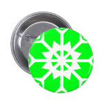 Snowflake 14 Green Pinback Buttons