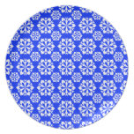 Snowflake 15 Blue Party Plates