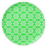 Snowflake 15 Green Dinner Plate